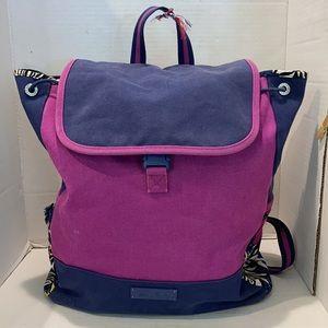 Vera Bradley Backpack Purple and Blue Floral